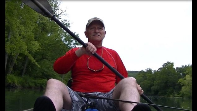 Bass Fishin' in the Ozarks of Missouri in my Ascend 12T kayak… Aug 2019