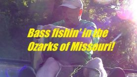 Bass fishin' in the Ozarks of Missouri out of my kayak!