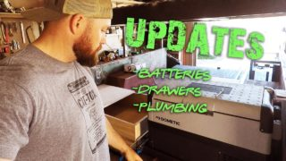 M101 Trailer Build Episode 12 – Updates; Batteries, Drawers, Plumbing